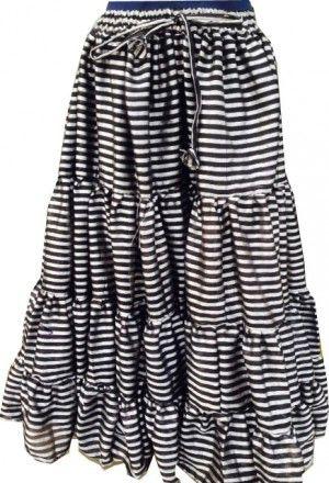 STRIPE PARIS SHINEY STEAMPUNK PIRATE Gypsy ATS®Tribal Skirt
