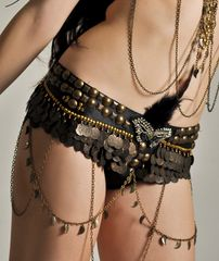 BELT DELUXE FUSION GYPSY PIRATE COIN BELT