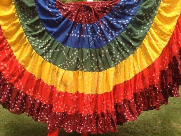 RAINBOW JAIPUR Tribal Bellydance ATS®Tribal Gypsy Rainbow Skirt