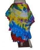 MULTI PRIMARY COLORED TYE DYED Tribal Bellydance ATS®Tribal Gypsy Rainbow Skirt