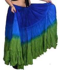 AMAZON DIP DYED ATS®Triple Dip-Dyed Tribal Bellydance Gypsy Skirt