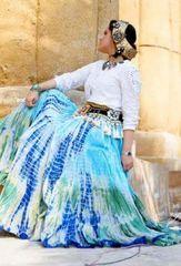 OCEAN Tribal Bellydance ATS®SatSang Lahaina Gypsy Skirt