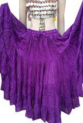 PURPLE LUREX Tribal Bellydance ATS®Purple Gypsy LUREX Skirt
