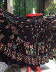BLOCK PRINT Tribal Bellydance Tribal GLITTER Gypsy Skirts
