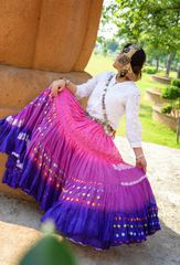 FUSHIA BLUES BOLLYWOOD Tribal Bellydance ATS®Tribal Gypsy Skirts