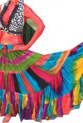 RAINBOW MULTI Tribal Bellydance ATS®Tribal Gypsy Multi Rainbow Skirt