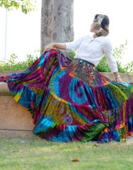 FABULOUS MULTI Tribal Bellydance ATS®Tribal Gypsy Rainbow Skirt