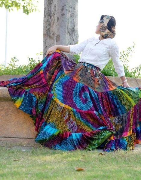 FABULOUS MULTI Tribal Bellydance ATS®Tribal Gypsy Rainbow Skirt