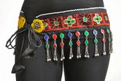 BELT VINTAGE TRIBAL KUCHI GYPSY GEMSTONE LAPIS ATS BELT