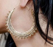 TRIBAL FUSION Vintage Tribal BellyDance Hoop Earrings