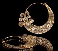 TRIBAL FUSION Vintage Tribal BellyDance BURMESE Hoop Earrings