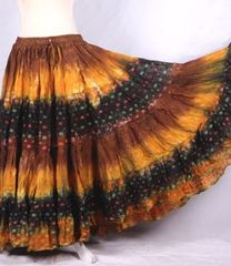GOLD&BROWN BOLLYWOOD Tribal Bellydance Gypsy ATS Skirt