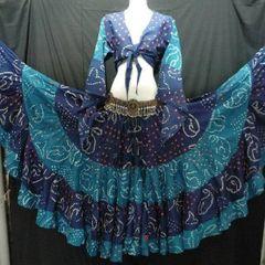 JAIPUR ATS®Tribal Bellydance ATS® Gypsy 25yard Double Color JAIPUR Skirt