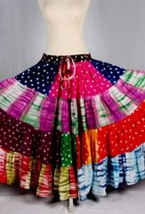 JAIPUR MULTI ATS®Tribal Bellydance ATS® Gypsy 25yard Double Color JAIPUR Skirt