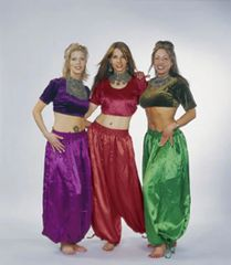 PANTALOONS SATIN XL JAIPUR TRIBAL BELLYDANCE GYPSY TRIBAL PANTALOONS