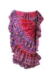 RED BLUE DURGA Tribal Bellydance Kuchi Gypsy ATS® Skirt