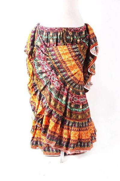 SAFFRON DURGA Tribal Bellydance Kuchi Gypsy ATS® Skirt