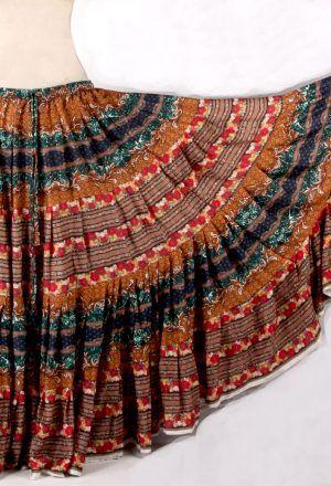 RUST DURGA Tribal Bellydance Kuchi Gypsy ATS® Skirt