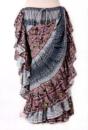 SILVER DURGA Tribal Bellydance Kuchi Gypsy ATS® Skirt