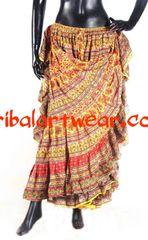DURGA YEL/ORG Tribal Bellydance Kuchi Gypsy ATS® Skirt