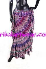 PURPLES DURGA Tribal Bellydance Kuchi Gypsy ATS® Skirt