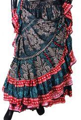 BLOCK PRINT TIBETAN Tribal Bellydance Tribal ATS Gypsy Skirts