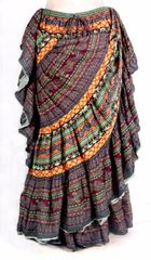 NEW!! ATS Multi FAB ULOUS Durga Tribal Bellydance Tribal ATS Gypsy Skirts