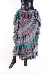 TURQUOISE DURGA Tribal Bellydance Kuchi Gypsy ATS® Skirt
