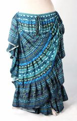 BEAUTIFUL BLUES DURGA Tribal Bellydance Kuchi Gypsy ATS® Skirt