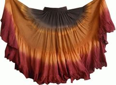 SEDONA DIP DYED ATS®Triple Dip-Dyed Tribal Bellydance Gypsy Skirt
