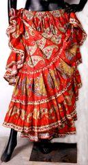 NEW!!ATS ORANGE Durga Tribal Bellydance Tribal ATS Gypsy Skirts
