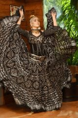 Limited Edition! Fabulous Egyptian ASSUIT Print 25 Yard Tribal ATS Gyspy Skirt