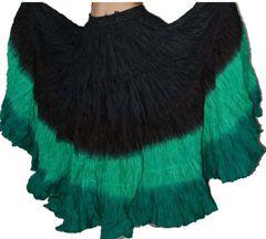 BLACK&GREEN DIP DYEDTribal Bellydance ATS®Tribal Gypsy Skirt