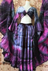 PURPLE TIGER ATS®TRIBAL BELLYDANCE GYPSY MULTI COLORED TRIBAL SKIRT