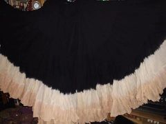 BLK IVORYS DIP DYED ATS®Triple Dip-Dyed Tribal Bellydance Gypsy STEAMPUNK Skirt