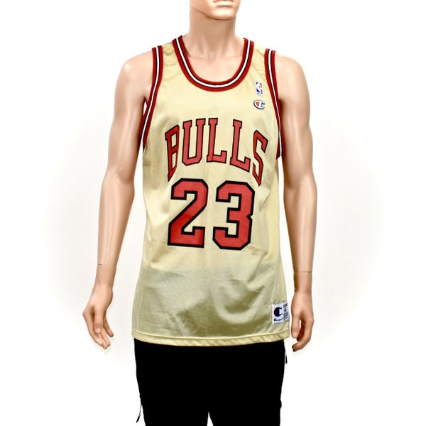 watch 79e2e e438b Michael Jordan Chicago Bulls 50th Gold Champion Jersey NEW
