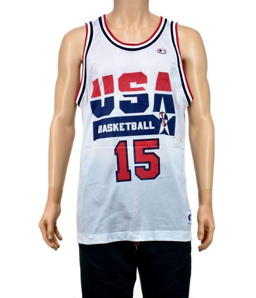 best authentic 19099 9c189 Magic Johnson Dream Team Champion Jersey Size 48