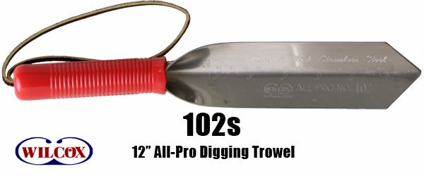 """Garden Wilcox All Pro 100S 10/"""" Digging Trowel Digger Stainless Steel Detecting"""
