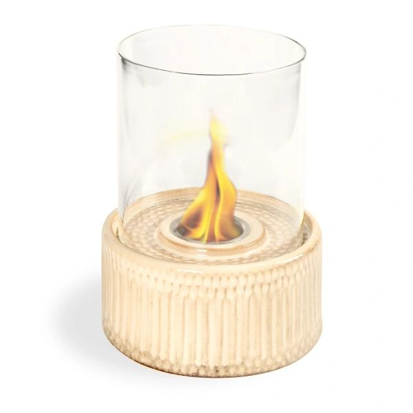 "12"" High X 8"" Diameter Sand Base/Glass Fireplace"