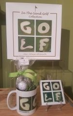 Golf Book Candy Mug & GOLF Coaster