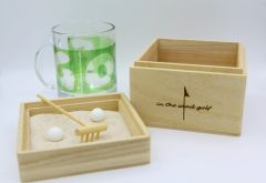 Zen Garden Wooden Boxed Clear Golf Mug