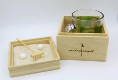 Zen Garden With Personalized Golf Mug