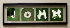 "Personalized Golf Letter Wood Float Frame 7"" x 23"""