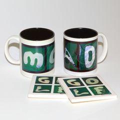 MOM & DAD Mug + 2 Coasters
