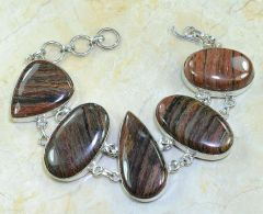 Jasper Bracelet in Beautiful Marbled Browns