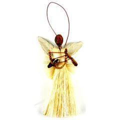 African Angel Ornament - Sisal and Palm