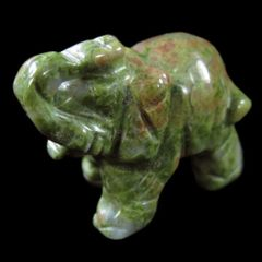 Carved Unakite Elephant