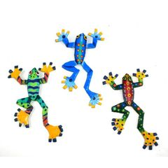 Colorful Frog Magnets Crafted From Recycled Oil Drum Steel