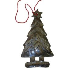 Christmas Tree Ornament Crafted From Recycled Oil Drum Steel