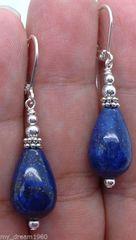 Teardop Lapis Lazuli Earrings